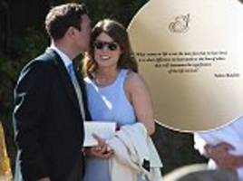 talk of the town: you're invited to the wedding of eugenie and jack... by nelson mandela
