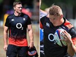 england rugby stars defy uk heatwave as they undertake training in london