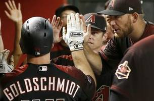big nights from goldy, peralta power d-backs past giants
