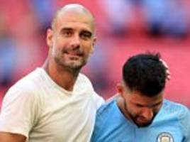pep guardiola believes sergio aguero can keep improving after two-goal display in community shield