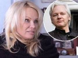 pamela anderson on her 'romantic' connection with julian assange