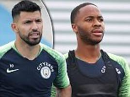 sergio aguero and co get back to business as pep guardiola's men gear up for the start of the season