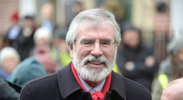 gerry adams 'writing cookbook in time for christmas'