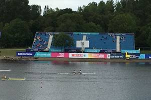 treemendous: part of stand at euro championships at strathclyde park blocked