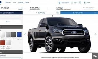 2019 ford ranger u.s. configurator reveals $24,300 starting price