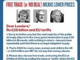 jd wetherspoon launches new 'brexit beer mats' supporting 'no deal'
