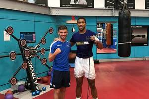 commonwealth games star stephen inspired after meeting heavyweight champ joshua