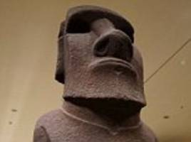 easter islanders demand return of statue given to queen victoria from the british museum