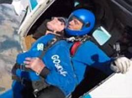 who needs a telegram from the queen? 100-year-old marks his birthday with a 15,000ft skydive