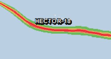 Green alert for tropical cyclone HECTOR-18. Population affected by Category 1 (120 km/h) wind speeds or higher is 0.