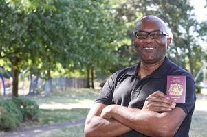 windrush: rolston knight finally gets his new british passport after 7 year battle