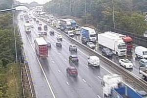 m25 traffic: one hour and forty-minute delays after two-lorry crash near waltham abbey