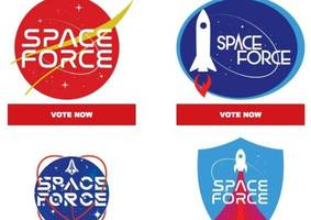 space force: trump 2020 asks supporters to vote on logo