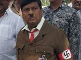 Indian MP dressed like Adolf Hitler in parliament