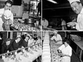 Retro images show army of 400 cooks cater for diners at world's largest restaurant