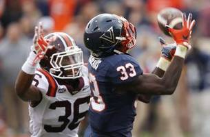 Virginia coach counting on big years from QB, receiver duo