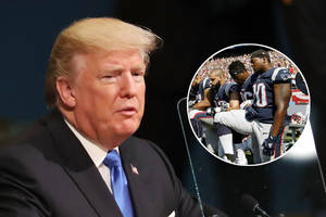 trump chides nfl players who took a knee, raised a fist: 'no place to protest'