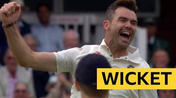 England v India: James Anderson dismisses Vijay with fourth bowl