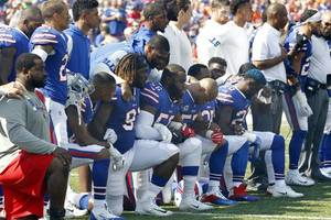 Several NFL players protest national anthem during pre-season games