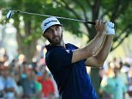 Dustin Johnson flexes his muscles as big hitters take charge at the US PGA Championship