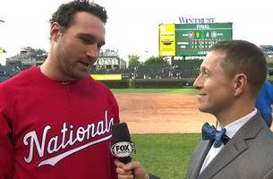 daniel murphy talks to ken rosenthal after the nationals win over the cubs