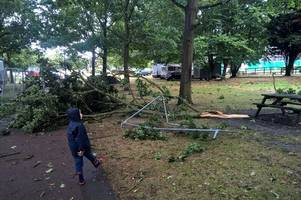photos show aftermath of 'tornado' that struck chelmsford