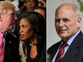 omarosa claims she heard trump 'n-word' tape and reveals audio of john kelly firing her