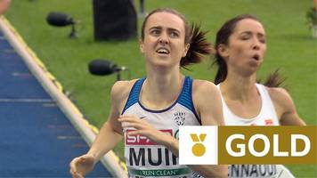 european championships 2018: laura muir hits front early to win gb's first ever 1500m gold