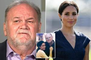 meghan markle's estranged dad thomas says he wants duchess to care for him as he gets older