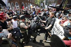 neo-nazi rally outside white house sparks fears of racist violence on anniversary of charlottesville chaos
