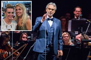 opera fans' fury after tuscany trip to see andrea bocelli in concert hits bum note