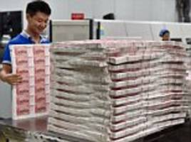 china prints foreign currencies on massive scale as it offers security features cheaper than rivals