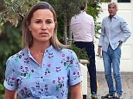 pregnant pippa middleton is pictured with her father-in-law for first time since rape claim