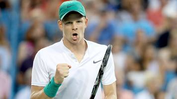 cincinnati masters: kyle edmund though to second round, rafael nadal withdraws
