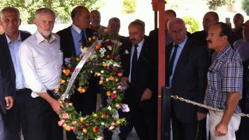 jeremy corbyn 'wreath laying' attacked by israeli pm