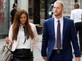 england cricketer ben stokes arrives at court with his wife as jury retires to consider its verdict