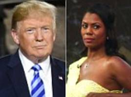 trump lashes out again at 'wacky and deranged' omarosa to deny tapes of him saying the 'n-word exist
