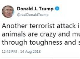 Trump blasts 'another terror attack in London' and hits out at 'animals'