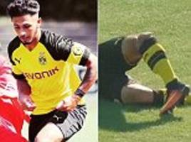 borussia dortmund youngster dario scuderi back in action two years after horror leg break