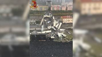 Several People Dead After Highway Bridge Collapses In Genoa, Italy