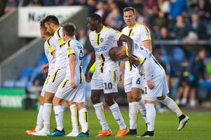 templeton's debut goal sets burton albion on way to carabao cup win at shrewsbury town