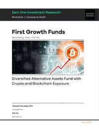 zero one investment research initiates coverage of first growth funds, rnav implies 75%+ upside