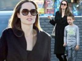Angelina Jolie spends the day with Knox and Shiloh amid new report she can do nothing to stop Pitt