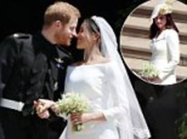 fans speculate over who handed meghan markle her wedding bouquet