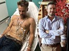 giles coren and richard bacon become locked in a row over the nhs