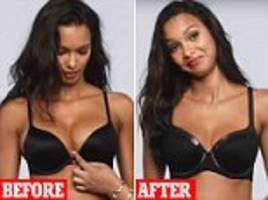victoria's secret models josephine skriver, barbara palvin, lais ribeiro can bra fittings on camera