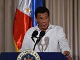 philippines' duterte says he's 'tired' and ready to quit… but he's not yet happy with his successor