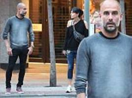 manchester city boss pep guardiola dines out with wife cristina serra at his restaurant tast