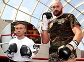 tyson fury shows off lean new look during workout