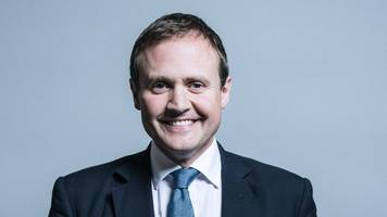 Tom Tugendhat 'changed nappy during live interview'